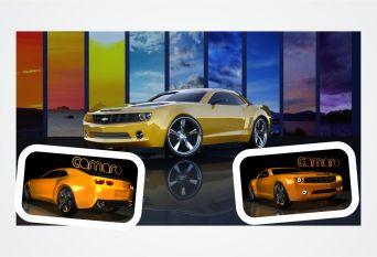 3D Camero Car
