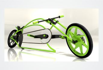 3D Chopper Bike